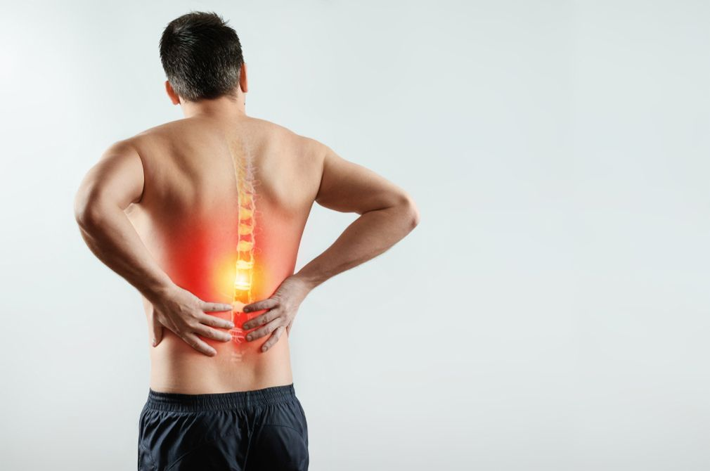 Back pain when standing